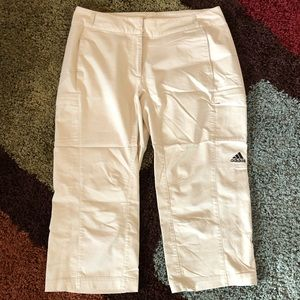 ADIDAS Khaki Pocketed Golf Capris - Size 12